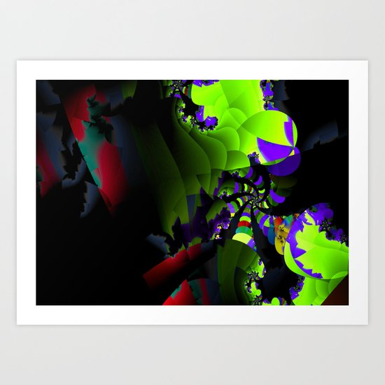 Colorful Spiral in the deep Art Print