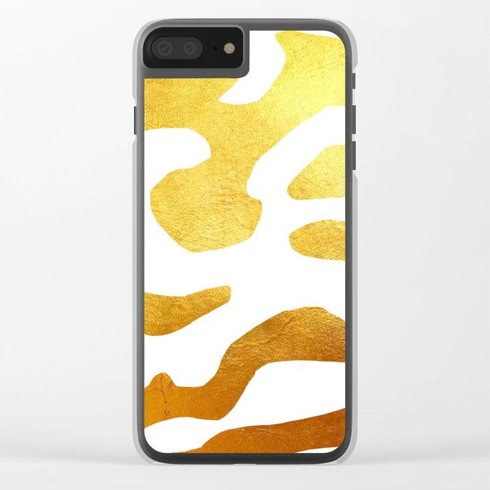 Golden Zebra Clear iPhone Case