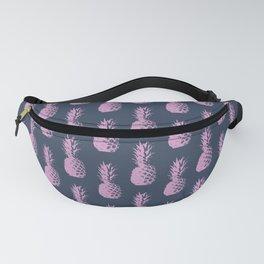 Pineapple Pattern - Dark Blue & Purple #600 Fanny Pack