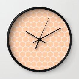 Orange polka dots Wall Clock