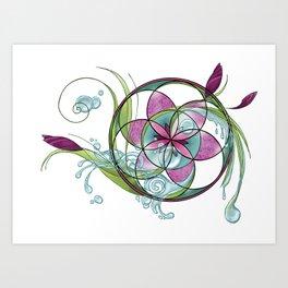 spring yoga Art Print