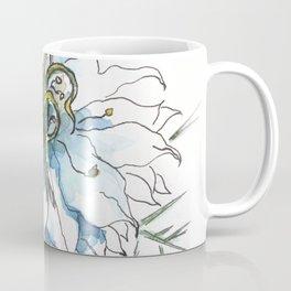 Nigella watercolor beautiful flower, nature Coffee Mug