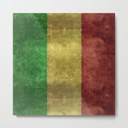 The National flag of the Republic of Mali Metal Print