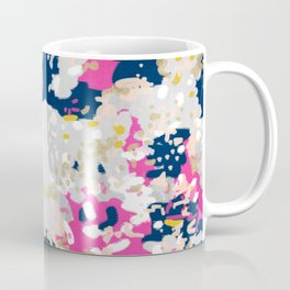 Michel - Abstract, girly, trendy art with pink, navy, blush, mustard for cell phones, dorm decor etc Coffee Mug