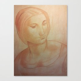 A Study for Madonna Canvas Print