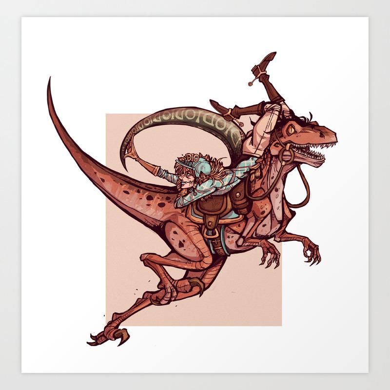 Scary Monsters Art Print By Vvisti Society6