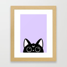 Hewwo? // Purple Version Framed Art Print