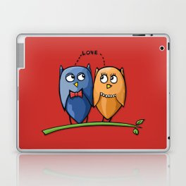 Owl Love red Laptop & iPad Skin