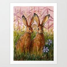 Happy Bunnies A0072 Art Print