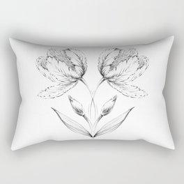Symmetrical tulip. Rectangular Pillow
