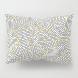 Ab Outline Gold and Grey Pillow Sham
