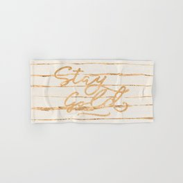 Stay Gold Hand & Bath Towel