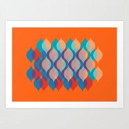 Ogee orgy orange Art Print