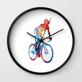 Woman triathlon cycling 06 Wall Clock
