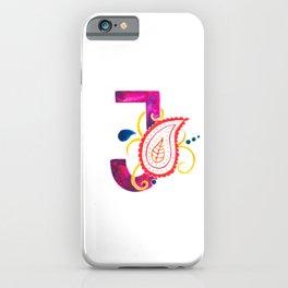 Paisley monogram letter J iPhone Case