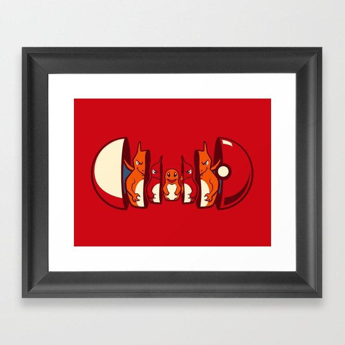 Poketryoshka - Fire Type Framed Art Print