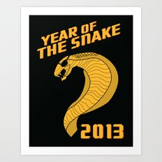 Year of the Escaped Snake Art Print