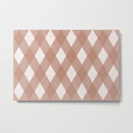 Sherwin Williams Canyon Clay Argyle Plaid, Diamond Pattern Metal Print