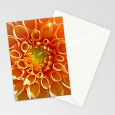 orange dahlia Stationery Cards
