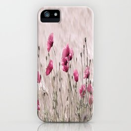 Poppy Pastell Pink iPhone Case