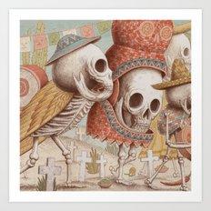 Mexican Skulls 1 Art Print
