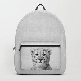 Cheetah - Black & White Backpack