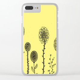 Flowers yellow Clear iPhone Case