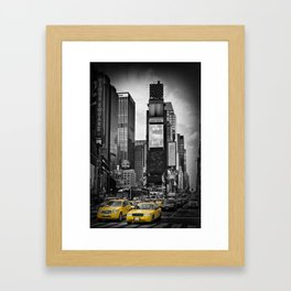 NEW YORK CITY Times Square | colorkey Framed Art Print