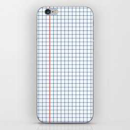 Dotted Grid Red and Blue iPhone Skin