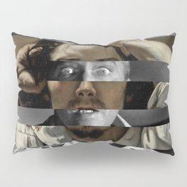 "Gustave Courbet ""The Desperate Man"" Self Portrait & James Stewart in Vertigo Pillow Sham"