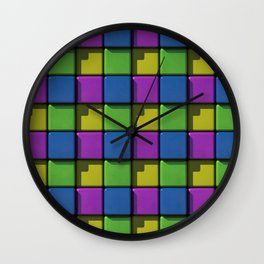 Colored Tiles Wall Clock