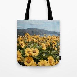 Oregon Summer Wildflower Hillside Meadow Tote Bag