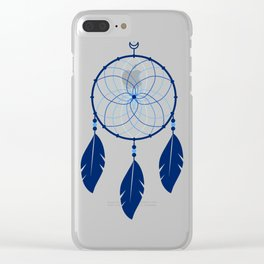 The Blue Dreamcatcher Clear iPhone Case