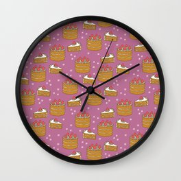 Strawberry Cake Wall Clock