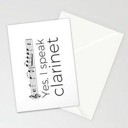 I speak clarinet Stationery Cards