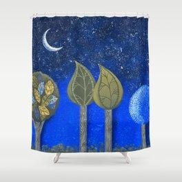 Night Grove Shower Curtain