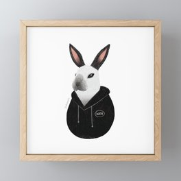 Waterloo the Rabbit Framed Mini Art Print
