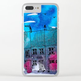 Red Doors Clear iPhone Case