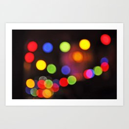 Colorful bookeh Art Print