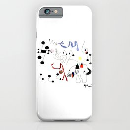 Joan Miro Woman Dreaming Of Escape T Shirt, 1945 Artwork iPhone Case