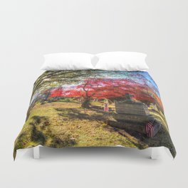 Sleepy Hollow Cemetery New York Duvet Cover