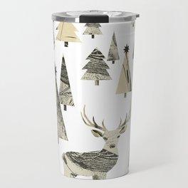 Winter Woods, collage Travel Mug