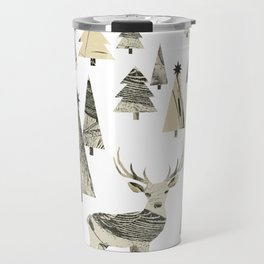 Winter Woods, collage Travel Mug