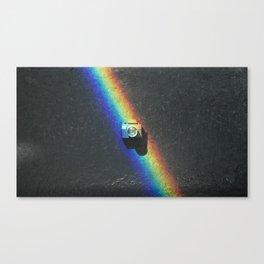 Rainbow & Tiny Tiny Camera Canvas Print