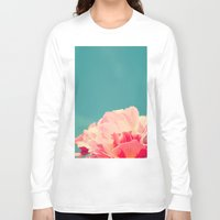 shabby chic Long Sleeve T-shirts featuring Shabby Chic Rose Photograph by Scarlett Ella