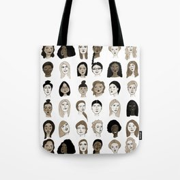Women faces in sepia palette Tote Bag