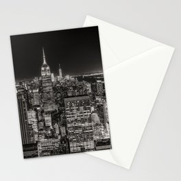 New York Skyline Night Sky Stationery Cards