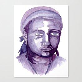 Self-Portrait of a College Freshman Canvas Print