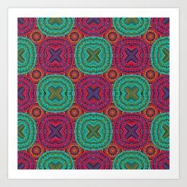 Jewel Tone African Fabric Geometry Art Print
