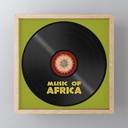 Vinyl record. Music of Africa Framed Mini Art Print